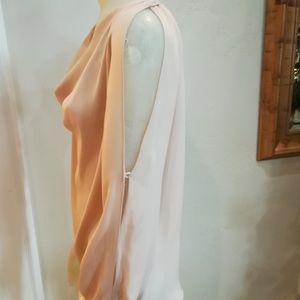 Haute hippie drape neck chiffon blouse